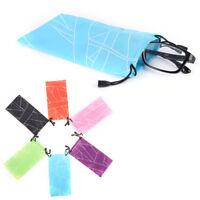 5Pc Sunglasses Bag Pouch Soft Cloth Cleaning Optical Glasses Case Random HU