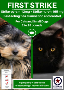 All in one Flea killer and control for Small Cats and Dogs 6 uses