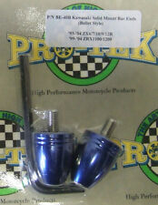 Pro Tek Motorcycle Bullet Bar End BE-40B BLUE Kawasaki Ninja 250 500 600 KLR650