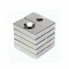 Hole Rare Earth N35 Magnets Strong Block Magnetism Neodymium Square Disc Lot