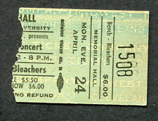 1972 Jethro Tull concert ticket stub Bowling Green Oh BGSU Thick As A Brick Rare