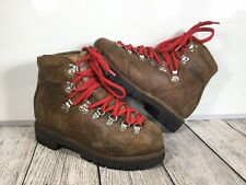 Vintage KASTINGER DISTRESSED MADE AUSTRIA LEATHER BROWN BOSS MOUNTAIN BOOTS 6.5