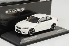 BMW m2 Coupe f87 2016 Alpinweiss voiture miniature 1:43 Minichamps NEUF