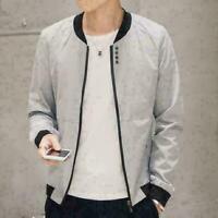 Men's Slim Zipper Fit collar jackets fashion Jacket Tops Casual Coat Outwear