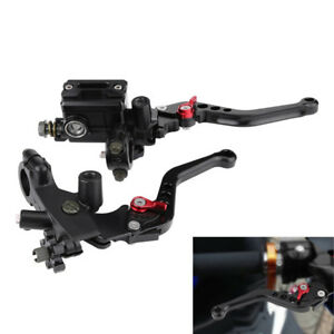 "7/8"" Universal CNC Motorcycle Brake Master Cylinder Clutch Lever w/ Reservoir 2x"