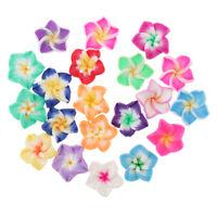 20 Stück Blume Form Polymer Clay Perlen Spacer Perlen für DIY Halskette