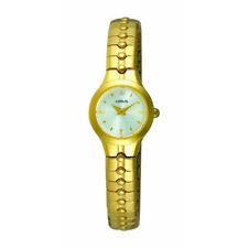 Wrist Watch for Women Elegant Gold Color Model Shape Round Lorus