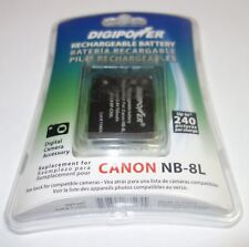 DIGIPOWER NB-8L CANON Rechargeable Lithium-Ion Battery PowerShot A3100 BP-CN8L