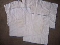 5 blue edge  13  in by 16  in prefold cloth diapers lot