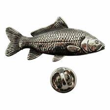 Carp Pin ~ Antiqued Pewter ~ Lapel Pin