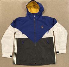 Adidas Premiere Snowboard Riding Waterproof Jacket Blue Mens Medium DW3995 $180