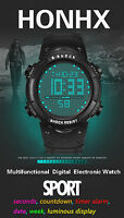Fashion Waterproof Men LCD Digital Stopwatch Date Alarm Boys Sport Wrist Watch