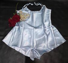 a74f3428a5ef Cami Top French Knicker Set Elegant Satin Baby Blue Size Medium