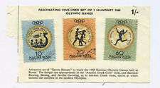 Set of 3 Hungary 1960 Olympic Games Stamps