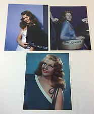Lot of 3 RITA HAYWORTH 8x10 color photographs