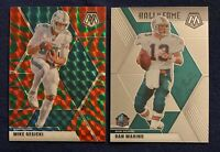 2020 Panini Mosaic DAN MARINO & MIKE GESICKI Red and Green Prizm *Dolphins