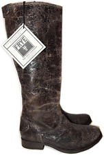 Frye Melissa Button Boot Riding Equestrian Vintage Leather Brown Zipper Bootie 7