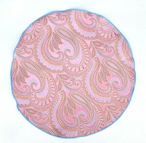 Lord R Colton Masterworks Pocket Round Bolzano Pink Gold Silk - $75 Retail New