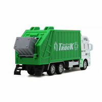 Friction Powered Pull-back Alloy Car Garbage Truck Toy Cool Trash Truck Game