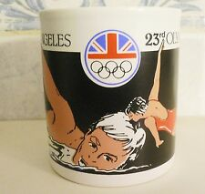 1984 OLYMPIC GAMES LOS ANGELES CUP MUG Great Britain by STAFFORDSHIRE ENGLAND