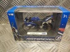 Motocicletas y quads de automodelismo y aeromodelismo azules WELLY Yamaha