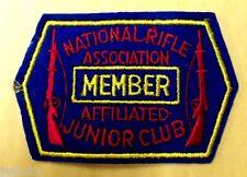 Vintage Patch NATIONAL RIFLE ASSOCIATION MEMBER AFFILIATED JUNIOR CLUB NRA NOS