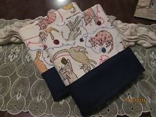 COUNTRY COTTAGE KIDS SET/2 FLANNEL KITTY CATS GALORE & BALLS OF YARN PILLOWCASES