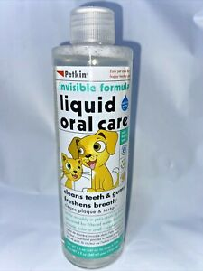 Petkin Pet Liquid 8 oz - Oral Care water solution for dental care FAST FREE SHIP