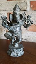 Ganesha aus Bronze Hinduismus Indonesien Statue Feng Shui Garten Dekoration Bali
