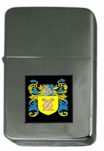 Spice Family Crest Surname Coat Of Arms Cigarette Ligther Personalised Engraved