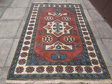 Old Traditional Hand Made Turkish Rug Oriental Wool Dark Pink  Rug 230x159cm
