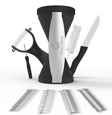 *NEW* PREMIUM Spiralizer Set 4 Blades Knife Peeler Brush Vegetable Spiral Slicer