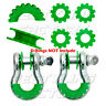 """New GREEN Isolator Washers 1 Pair Set Silencer Clevis for 3/4"""" D-ring Shackles"""