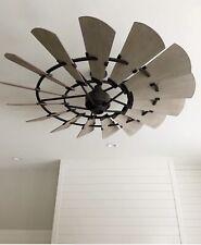 """Quorum 60"""" Oiled Bronze Windmill INDOOR Ceiling Fan"""