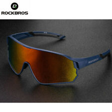 RockBros Polarized Cycling Bike Sports Glasses Sunglasses Goggles Blue 1 lens