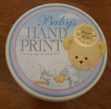 Baby's First Hand Print Plaster Mold Craft Set In Decorative Tin, New