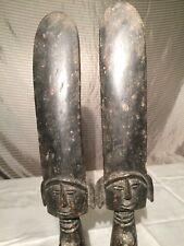"African Carved Wood Twins Ashanti Fertility Doll Figure Statue (18"" Tall)"