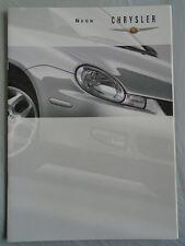 Chrysler Neon range brochure Sep 1999 UK market