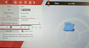 Shiny Ditto 0 IV Speed Brave 5 IV EVs Breeding Pokemon Sword Shield Destiny Knot
