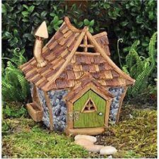 NEW FIDDLEHEAD FAIRY GARDEN HOUSE-Shingletown Country Cottage- Open/Close Door