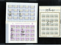 Liechtenstein Stamps Mint NH Sheet-let Sets Selection 1980's Scott $2,200