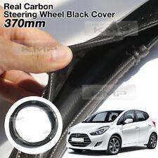 Carbon Steering Wheel Cover Glossy Urethane 370mm for HYUNDAI 2010 - 2017 ix20