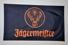 New Jagermeister black orange Flag 3' x 5' Mint - with Grommets & Sealed - Wow