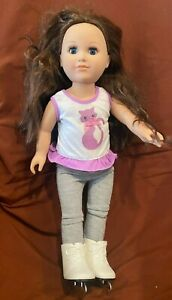 """American Girl Doll Cititoy 2013 Doll Brown Hair Ice Skates 18"""""""
