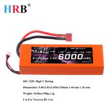 HRB 2S 7.4V 6000mAh RC Lipo Battery Hard Case 60C 120C For 1/8 1/10 Car Truck