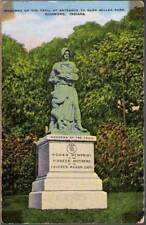 (ysi) Richmond IN: Madonna of the Trail at Entrance to Glen Miller Park