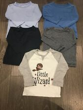 Bundle Of 5 Baby Boy Long Sleeved tops t-shirts 12-18 months