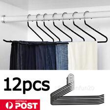 12Pcs Pants Hangers Trousers Hangers Clothes Hangers Non Slip Closet Organizer
