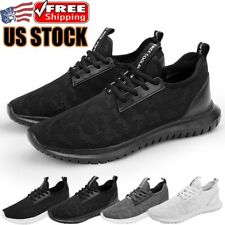 Men's Running Shoes Breathable Outdoor Sneakers Jogging Walking Tennis Athletic
