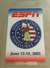 2005 6/13-19 Espn Golf Us Open Laminated Backstage Pass Campbell Woods Garcia